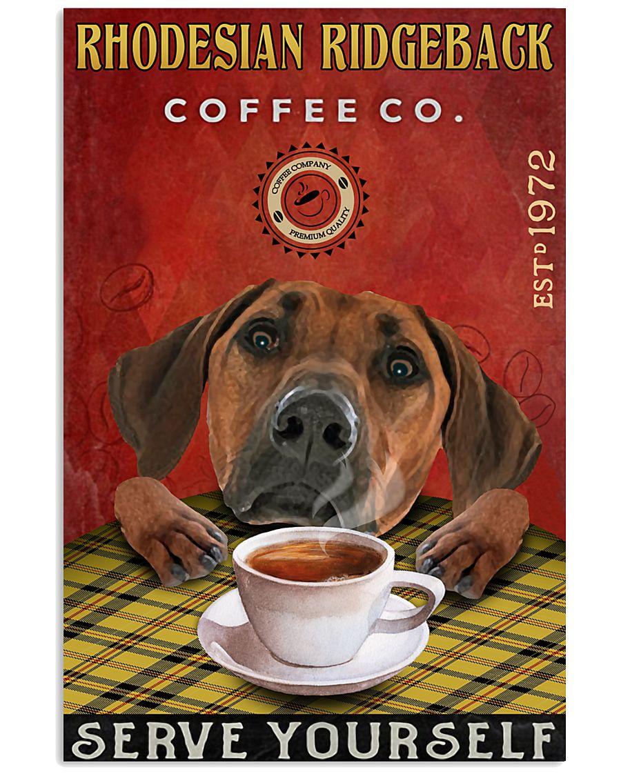 Lazy Coffee Company Rhodesian Ridgeback 11x17 Poster