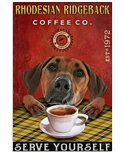 Lazy Coffee Company Rhodesian Ridgeback 11x17 Poster front