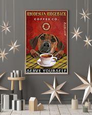 Lazy Coffee Company Rhodesian Ridgeback 11x17 Poster lifestyle-holiday-poster-1