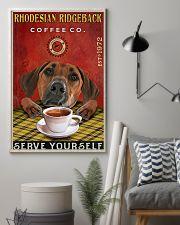 Lazy Coffee Company Rhodesian Ridgeback 11x17 Poster lifestyle-poster-1
