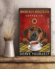 Lazy Coffee Company Rhodesian Ridgeback 11x17 Poster lifestyle-poster-3