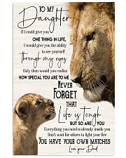Lion  To My Daughter You Have Your Own Matches 11x17 Poster front
