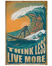 Retro Surfing Think Less Live More 11x17 Poster front