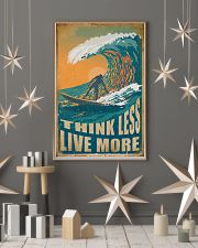 Retro Surfing Think Less Live More 11x17 Poster lifestyle-holiday-poster-1
