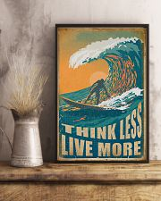 Retro Surfing Think Less Live More 11x17 Poster lifestyle-poster-3