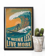Retro Surfing Think Less Live More 11x17 Poster lifestyle-poster-8