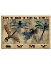 Dragonfly Behind You All Your Memories 24x16 Poster front