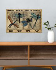 Dragonfly Behind You All Your Memories 24x16 Poster poster-landscape-24x16-lifestyle-25