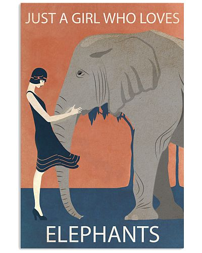 Vintage Girl Who Loves Elephant