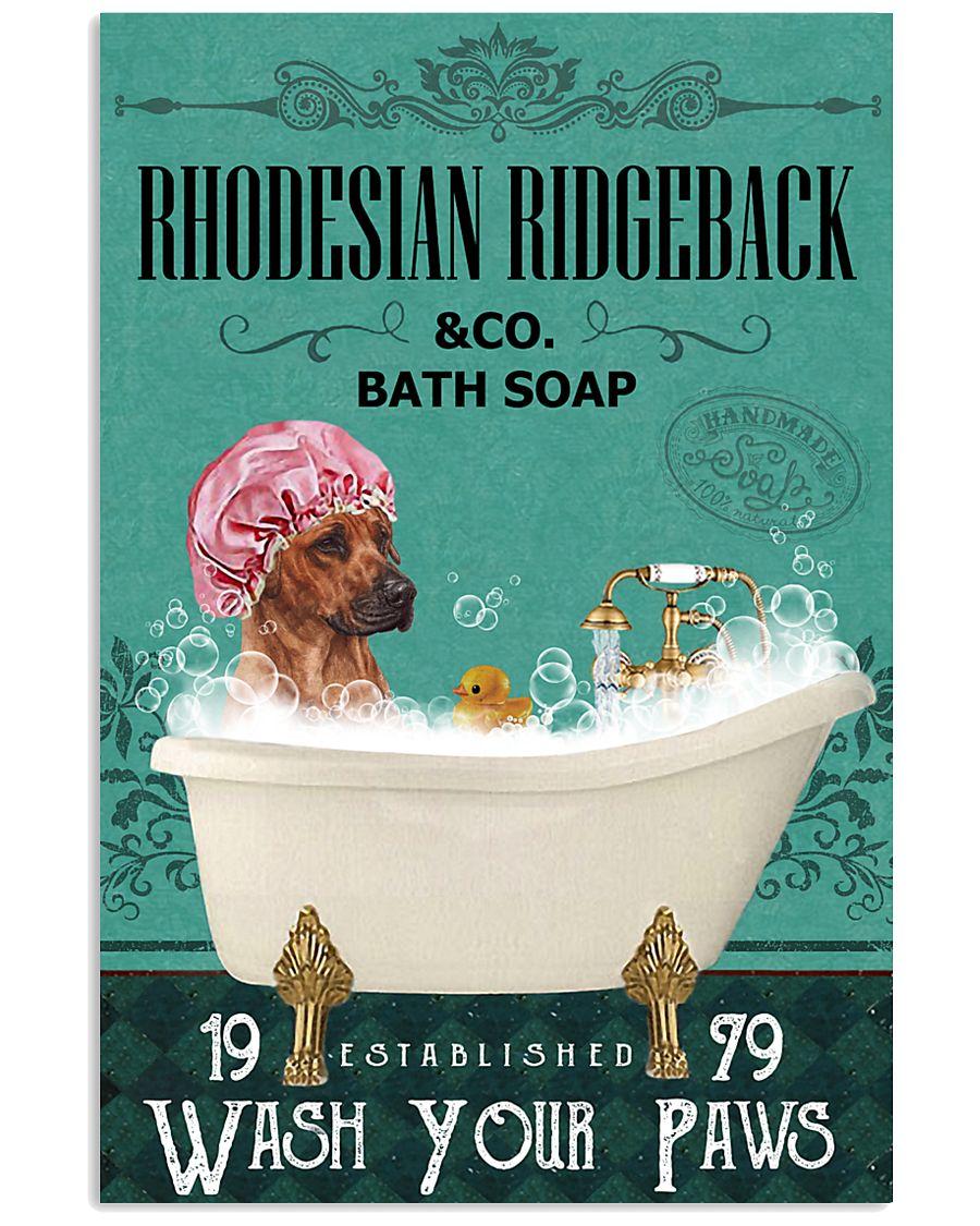 Green Bath Soap Company Rhodesian Ridgeback 11x17 Poster