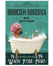 Green Bath Soap Company Rhodesian Ridgeback 11x17 Poster front