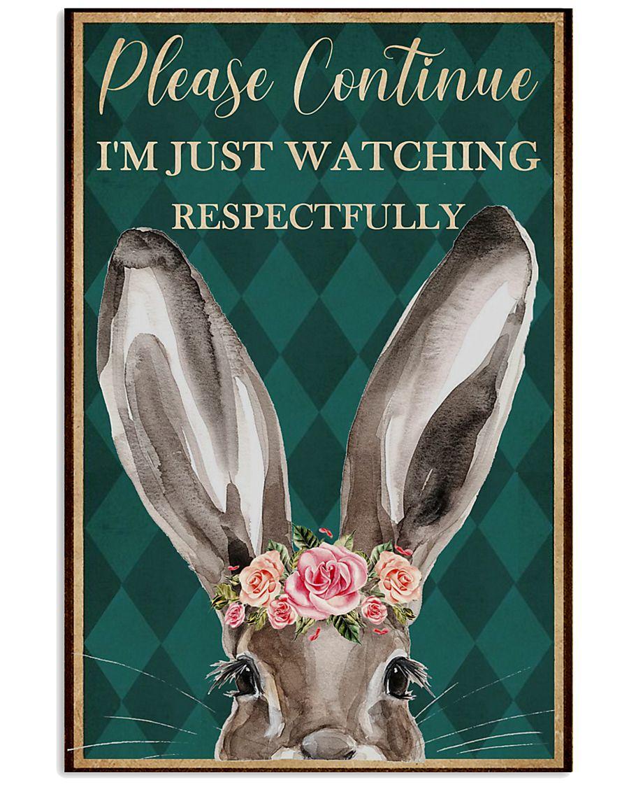 Watching Respectfully Rabbit 16x24 Poster