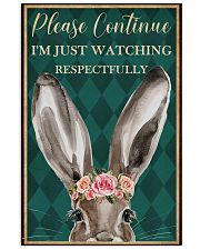 Watching Respectfully Rabbit 16x24 Poster front