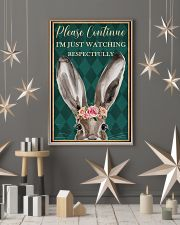 Watching Respectfully Rabbit 16x24 Poster lifestyle-holiday-poster-1