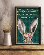 Watching Respectfully Rabbit 16x24 Poster lifestyle-poster-3