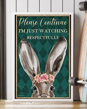 Watching Respectfully Rabbit 16x24 Poster lifestyle-poster-4