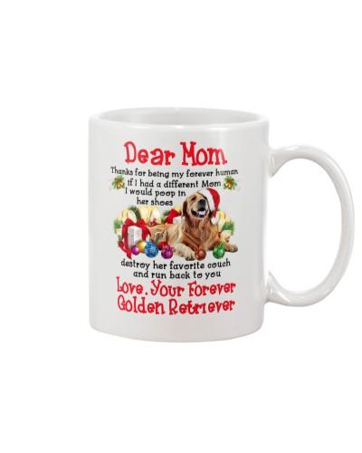 Dear Mom Love Your Forever Golden Retriever