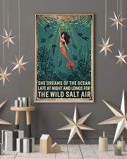 Retro She Dreams Of The Ocean Mermaid 11x17 Poster lifestyle-holiday-poster-1