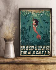 Retro She Dreams Of The Ocean Mermaid 11x17 Poster lifestyle-poster-3