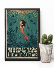 Retro She Dreams Of The Ocean Mermaid 11x17 Poster lifestyle-poster-8