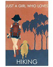 Vintage Orange Just A Girl Hiking 11x17 Poster front