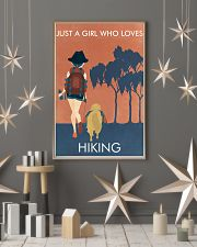 Vintage Orange Just A Girl Hiking 11x17 Poster lifestyle-holiday-poster-1