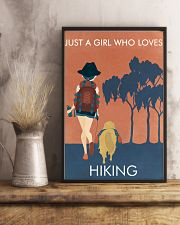 Vintage Orange Just A Girl Hiking 11x17 Poster lifestyle-poster-3