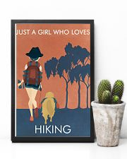Vintage Orange Just A Girl Hiking 11x17 Poster lifestyle-poster-8