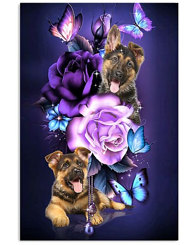 Magic Purple Rose German Shepherd