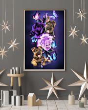 Magic Purple Rose German Shepherd 11x17 Poster lifestyle-holiday-poster-1