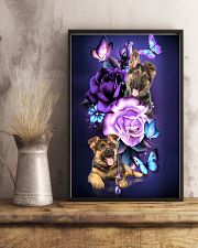 Magic Purple Rose German Shepherd 11x17 Poster lifestyle-poster-3
