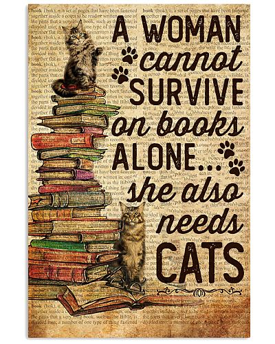 A Woman Cannot Survive Books And Cats