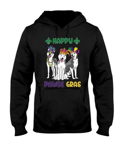 Happy Pawdi Gras Husky