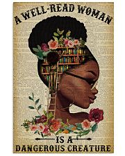 Dangerous Creature Glasses Black Girl Reading 16x24 Poster front