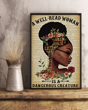 Dangerous Creature Glasses Black Girl Reading 16x24 Poster lifestyle-poster-3