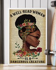 Dangerous Creature Glasses Black Girl Reading 16x24 Poster lifestyle-poster-4
