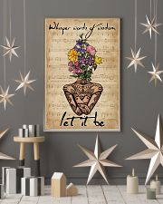 Music Sheet Yoga Flower Let It Be 11x17 Poster lifestyle-holiday-poster-1