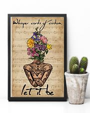 Music Sheet Yoga Flower Let It Be 11x17 Poster lifestyle-poster-8