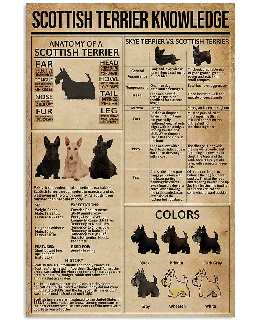 Scottish Terrier Knowledge 11x17 Poster