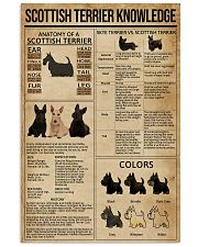 Scottish Terrier Knowledge 11x17 Poster front