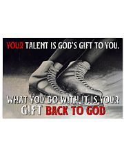 Your Talent Is God's Gift To You Figure Skating 24x16 Poster front