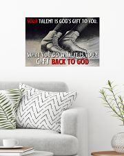 Your Talent Is God's Gift To You Figure Skating 24x16 Poster poster-landscape-24x16-lifestyle-01