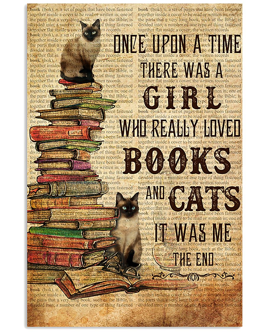 Books Cats Once Upon A Time Siamese 16x24 Poster