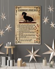 A Dachshund's House Rules Vintage 11x17 Poster lifestyle-holiday-poster-1