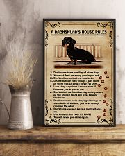 A Dachshund's House Rules Vintage 11x17 Poster lifestyle-poster-3
