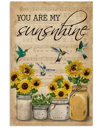 Vintage You Are My Sunshine Hummingbird
