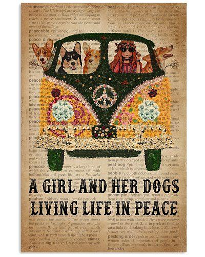 Dictionary Girl In Peace Corgi