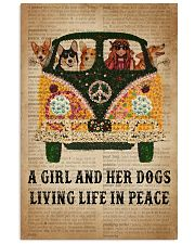 Dictionary Girl In Peace Corgi 11x17 Poster front