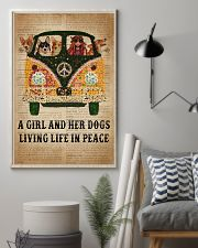 Dictionary Girl In Peace Corgi 11x17 Poster lifestyle-poster-1