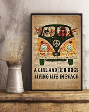 Dictionary Girl In Peace Corgi 11x17 Poster lifestyle-poster-3